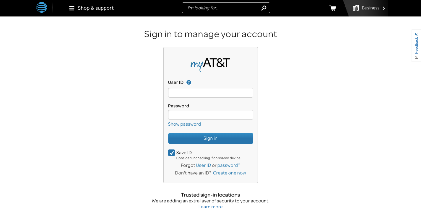 myAT T Login Pay Bills Online Manage Your AT T Account