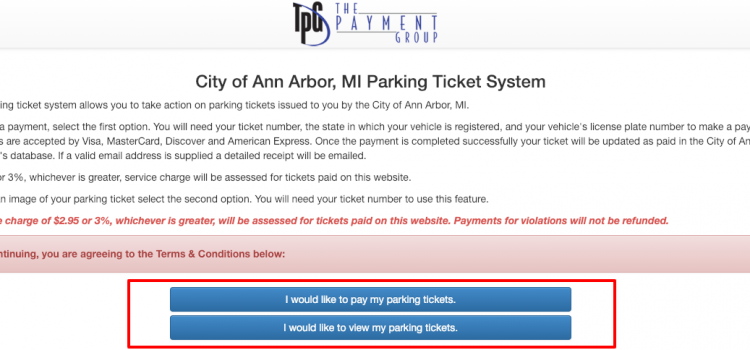 www.parkingticketpayment.com/annarbor – Pay The Ann Arbor Michigan Parking Ticket