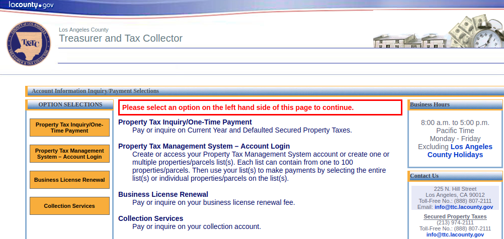 Account Information Inquiry Payment Selections Logo