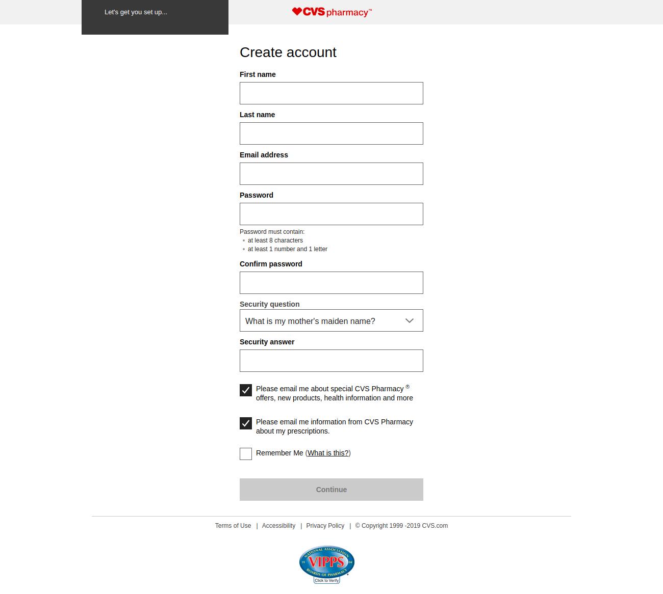 Create Your CVS Account