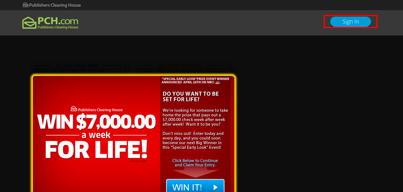 www pch com - publishers clearing house account login -
