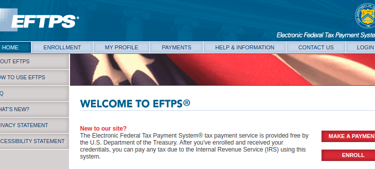 www.eftps.gov/eftps – How to pay Eftps Tax