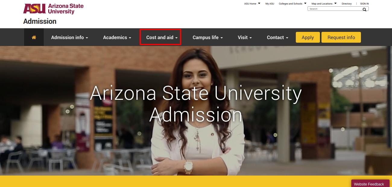 Admission Arizona State University
