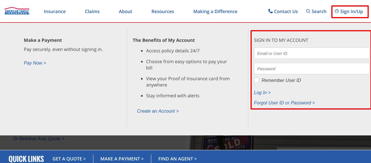 American Family Insurance SignIn