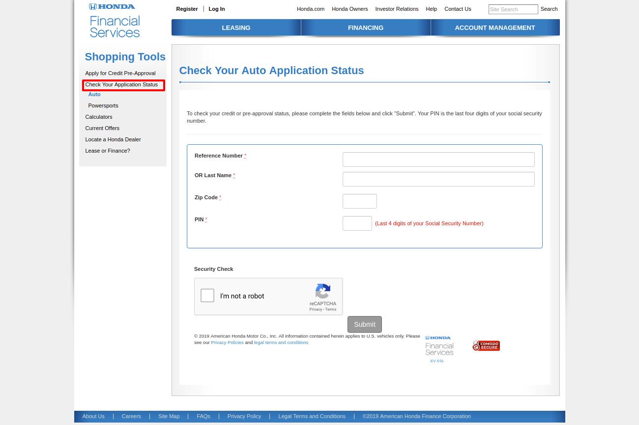 Hondafinancialservices Online Payment >> Www Hondafinancialservices Com The Honda Financial Services Loan