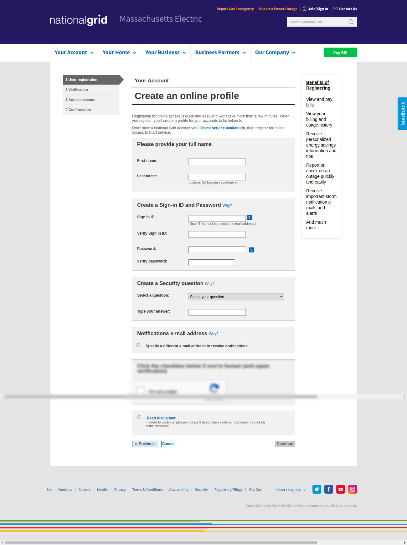 Create An Online Profile