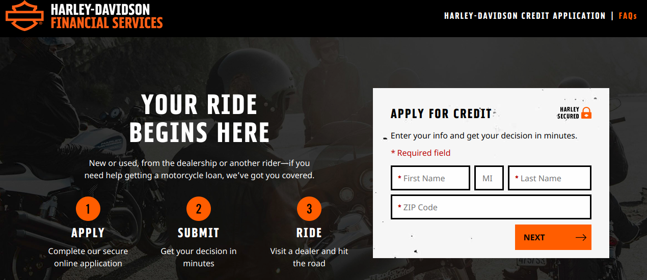 Credit Application Harley Davidson Financial