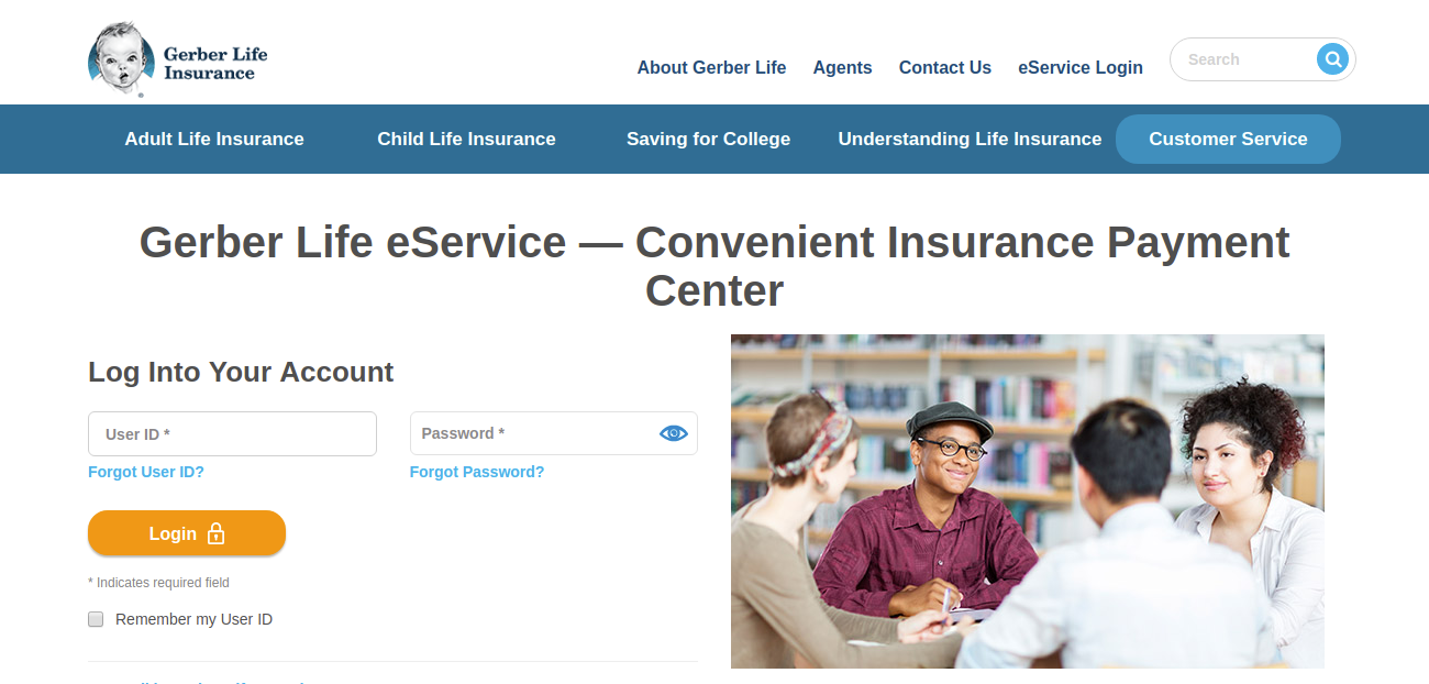 Customer Login Portal Gerber Life Insurance