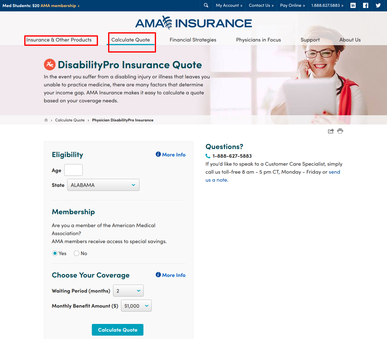 DisabilityPro Quote Disability Insurance AMA Insurance for Physicians