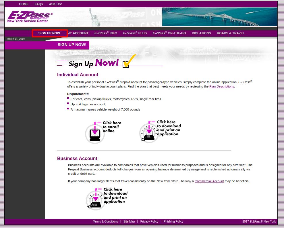 E ZPass® New York Overview