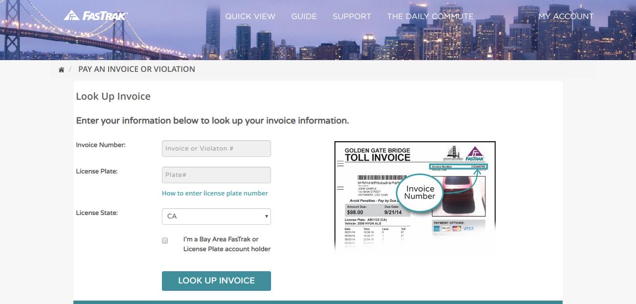 FasTrak Invoice