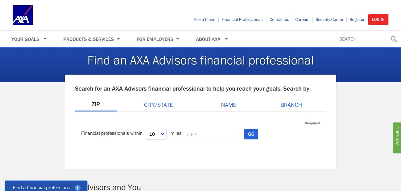 Find an AXA Advisors financial professional