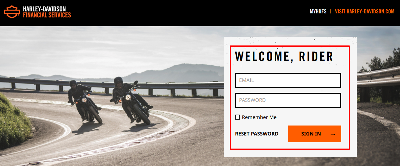Harley Davidson Financial ServicesLogin