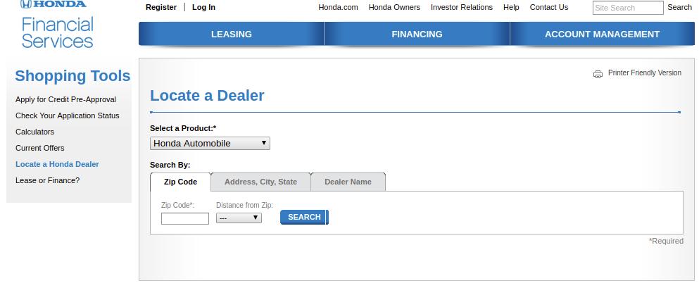 Locate a Honda Dealer