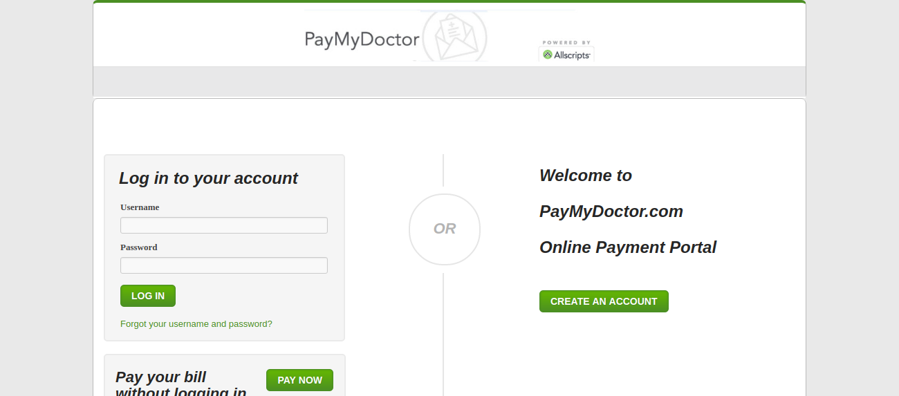 Hondafinancialservices Online Payment >> Www Paymydoctor Com Paymydoctor Bill Payment Methods