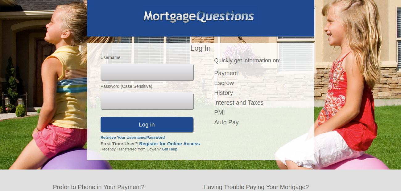 Mortgage Servicing Login