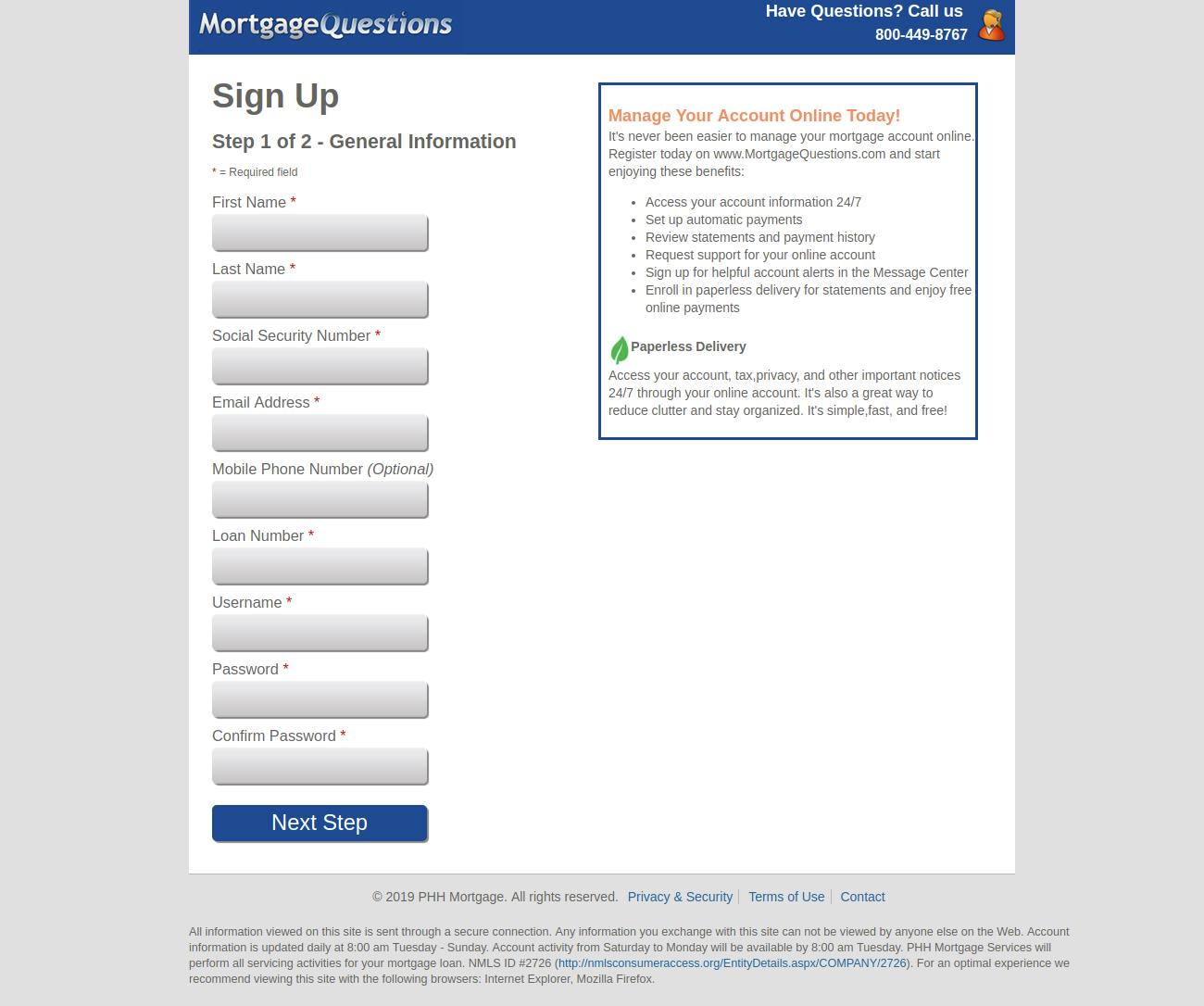 Mortgage Servicing Register