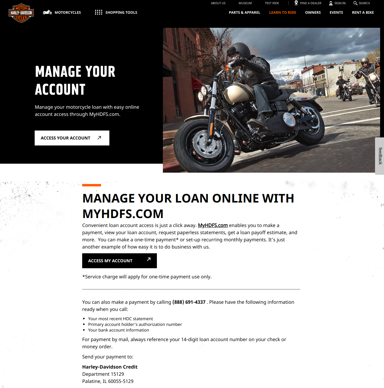 Motorcycle Loan Payment