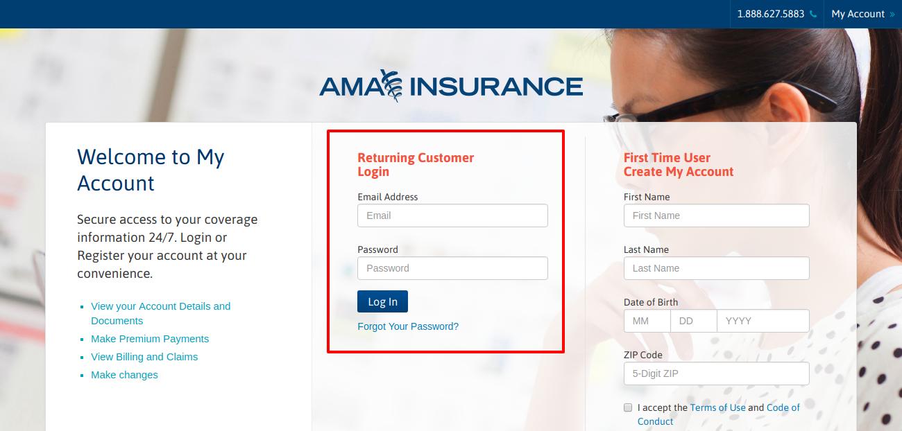 MyAccount AMA Insurance Login