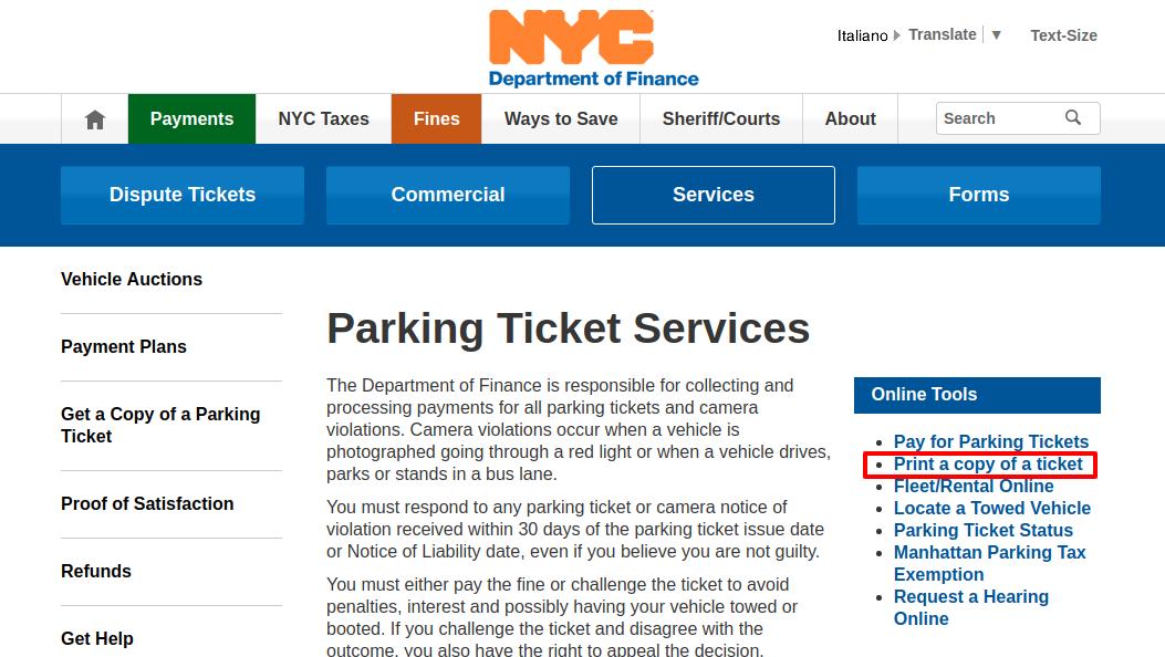 Parking Ticket Print