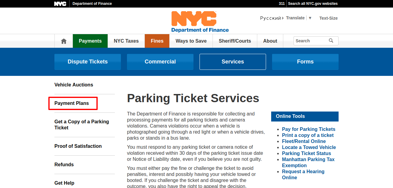 Parking Ticket Services