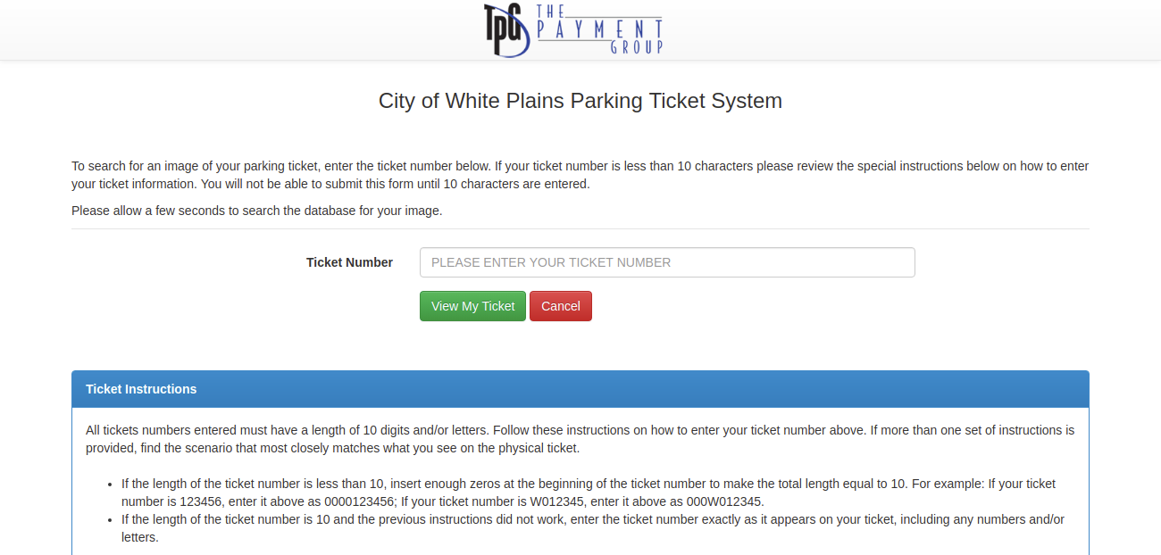 Parking TicketView