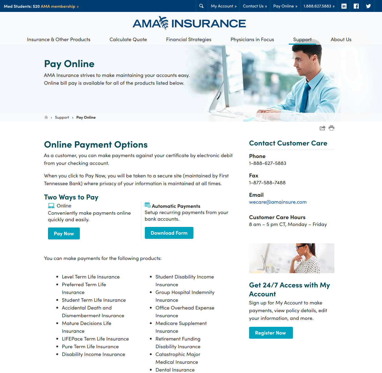 Pay Online AMA Insurance for Physicians