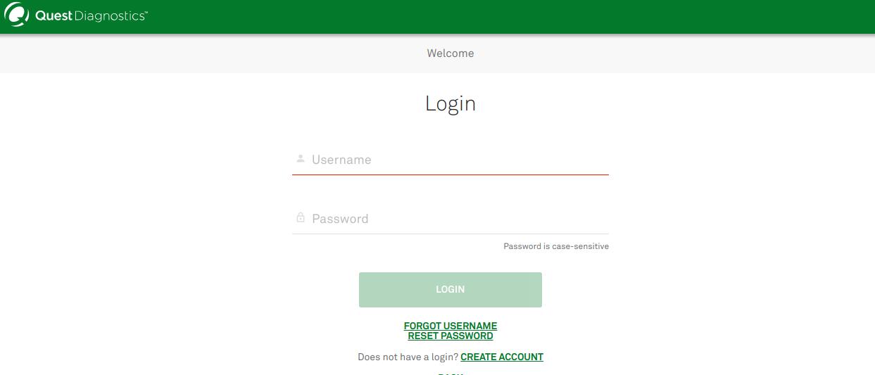 Quest Diagnostics Authentication Service
