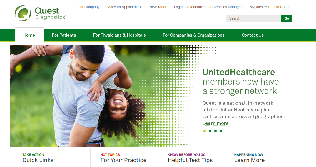 Quest Diagnostics Home Logo