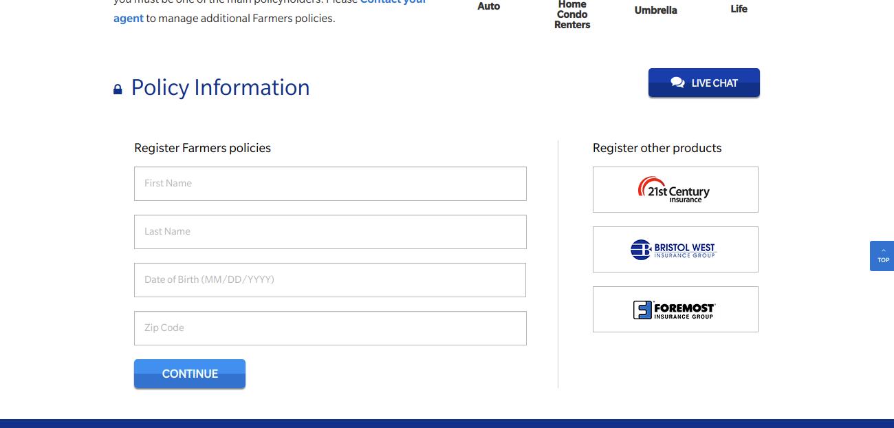 Register for a Farmers com account