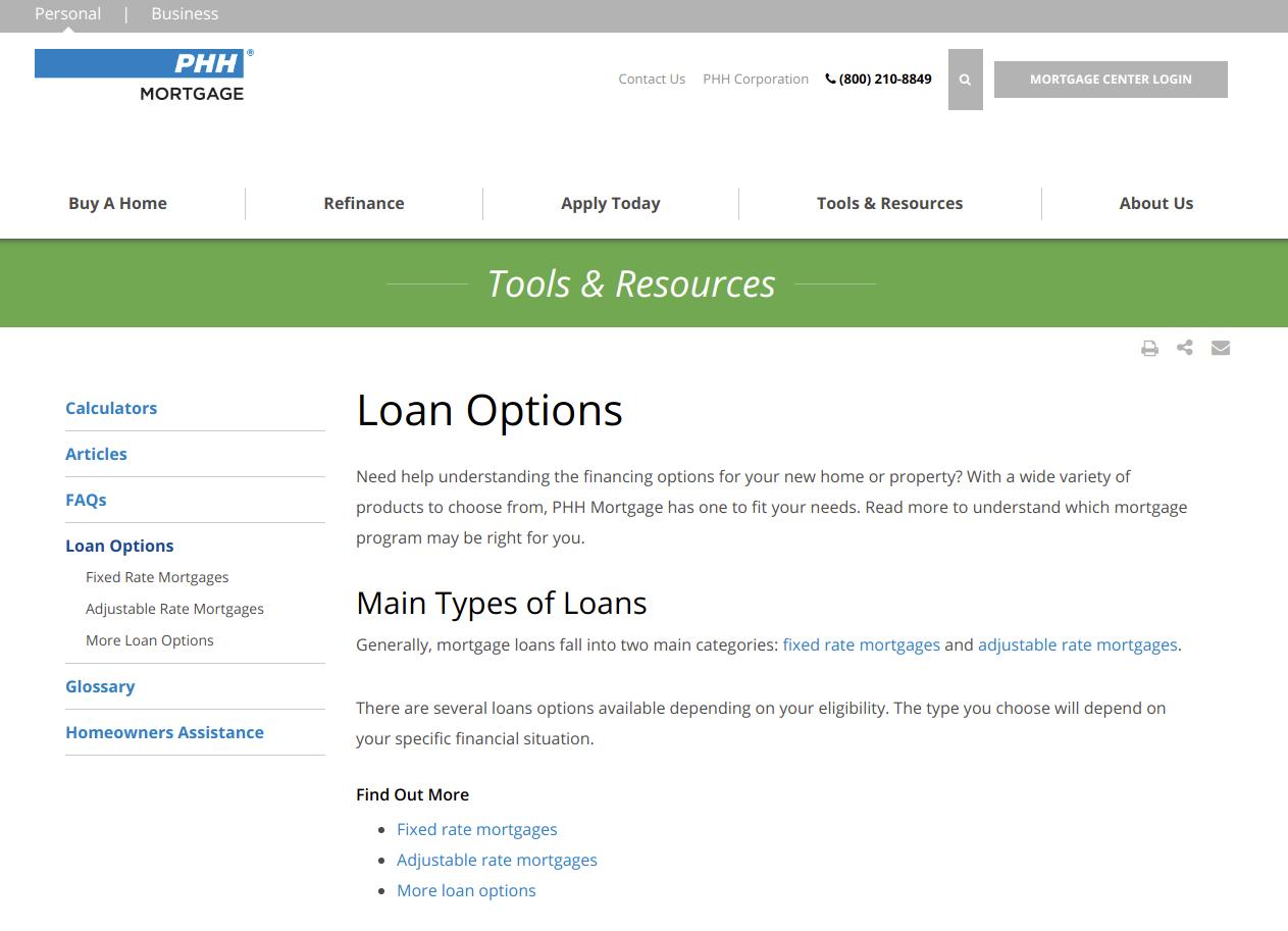 Tools Resources PHH Mortgage