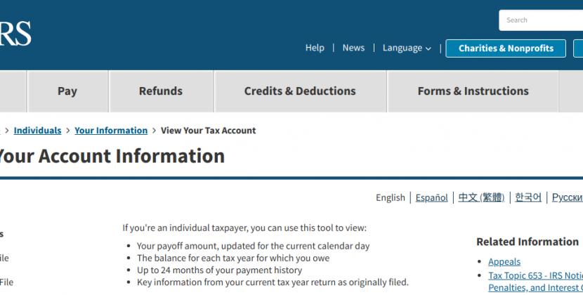 www.irs.gov/payments/view-your-tax-account – How To Pay Payroll Taxes