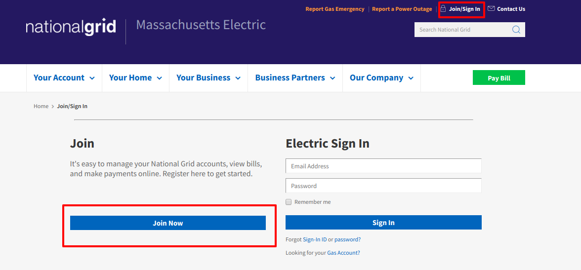 Your account profile sign in