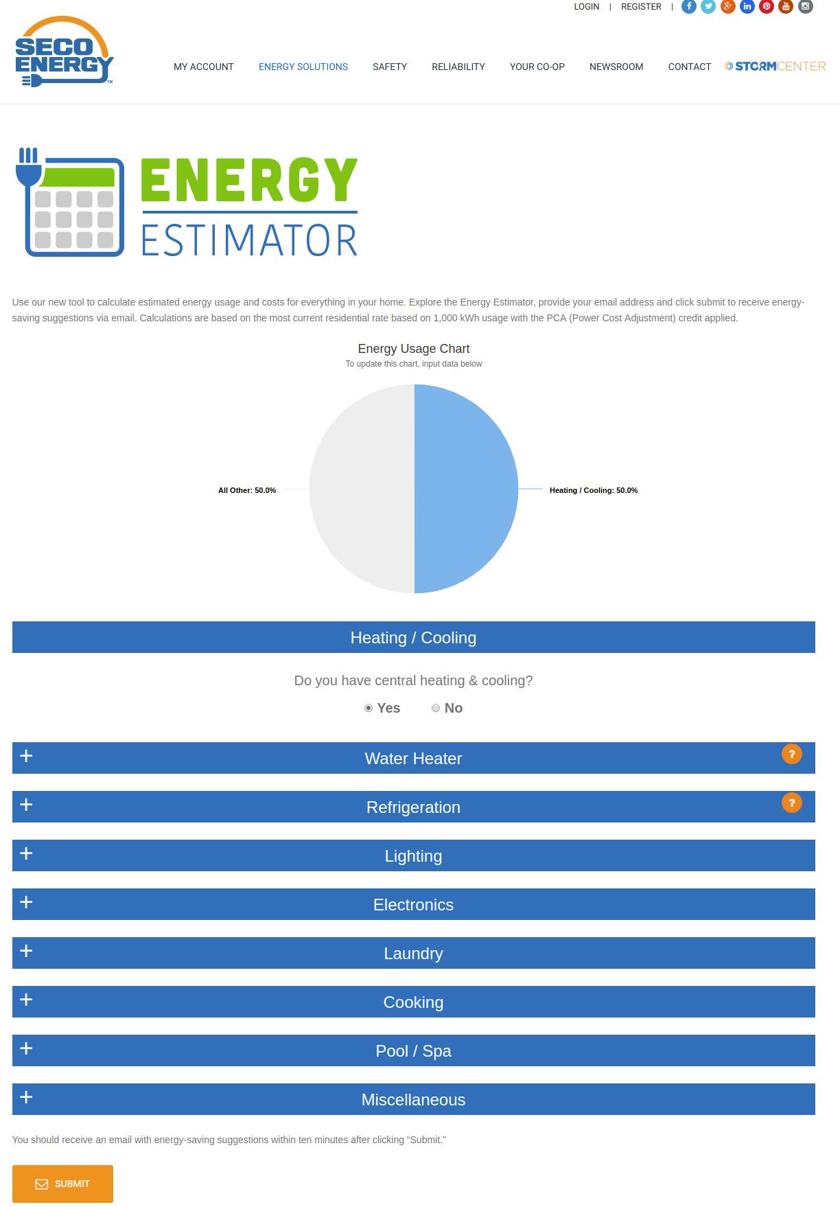 Energy Estimator – SECO Energy