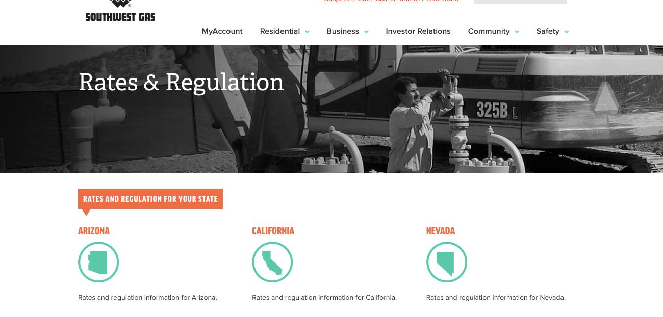 Southwest Gas Rates Regulation