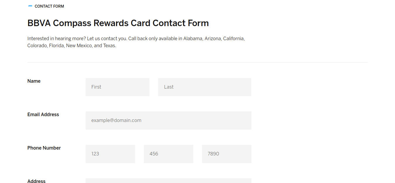 BBVA Compass Rewards Credit Card