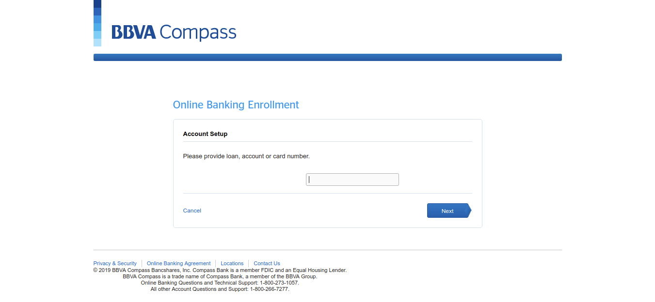 BBVA Official Bank Activate the Card