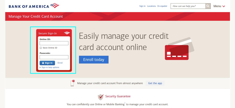 Bank of America Account login