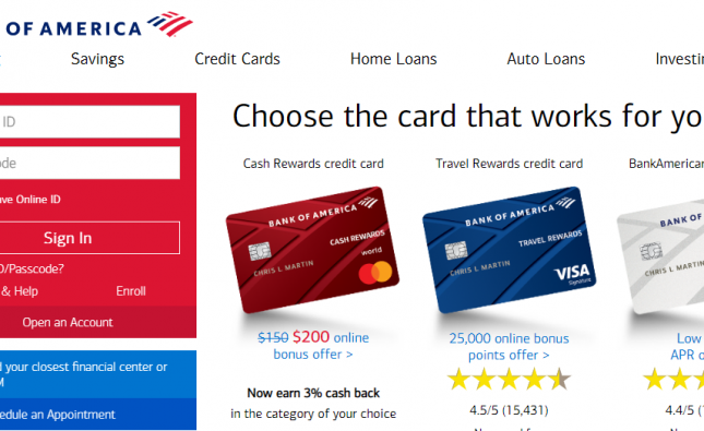 bank of america pay car loan online