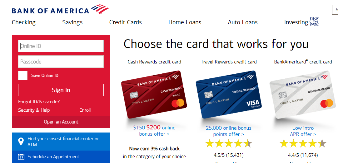 Www Bankofamerica Com How To Pay The Bank Of America Auto Loan Bill