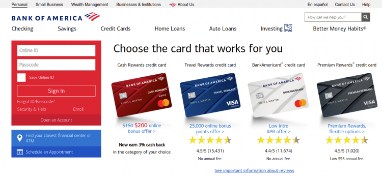 www.bankofamerica.com – How To Apply And Pay The Bank Of America Credi Card Bill