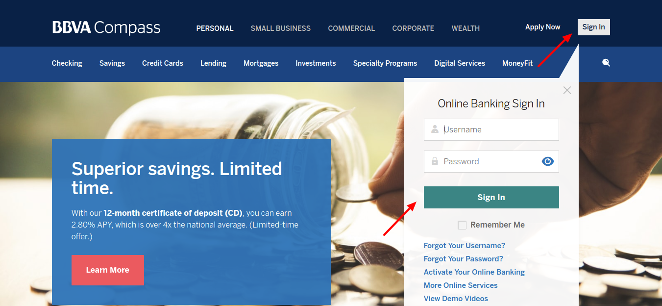 Banking Credit Cards Mortgages Sign In