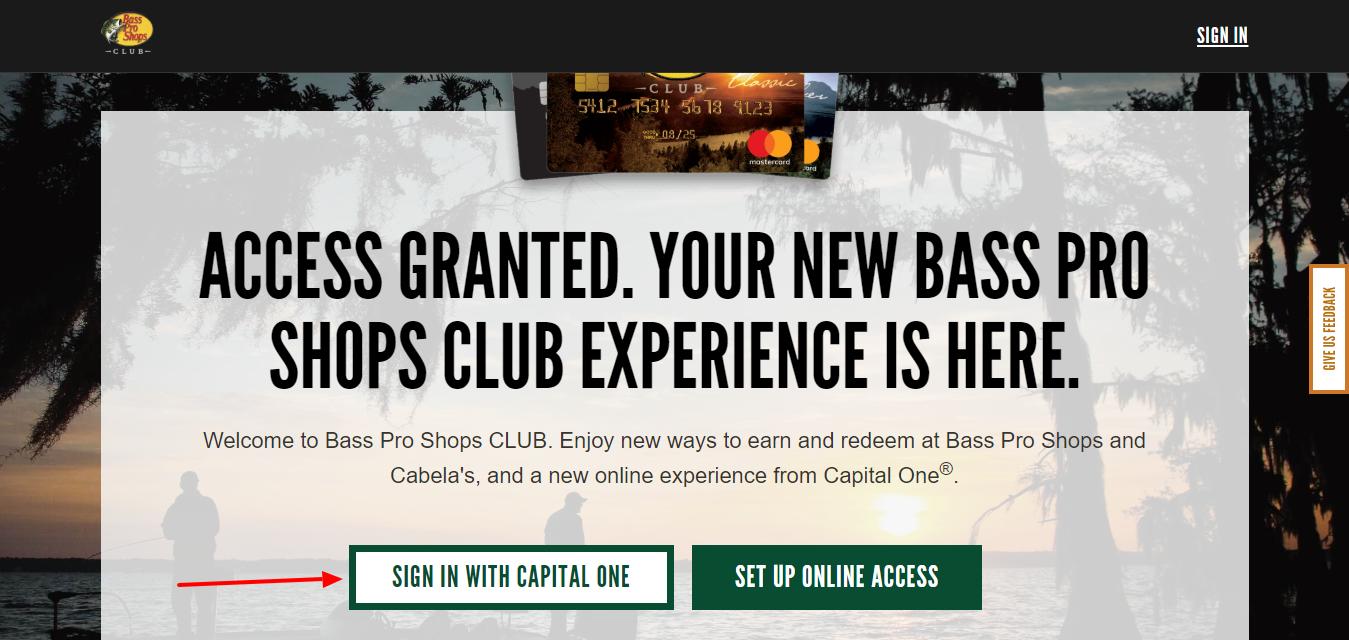 Bass Pro Club Credit Card