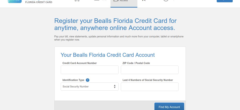 Bealls Florida Credit Card Find Account