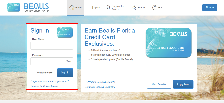Bealls Florida Credit Card Sign In
