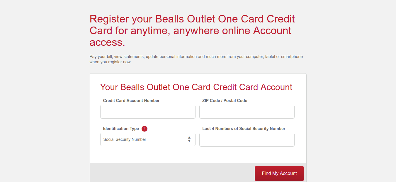 Bealls Outlet One Card Credit Card