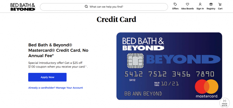 www.bedbathandbeyond.com – How To Apply Bed Bath & Beyond Credit Card Online