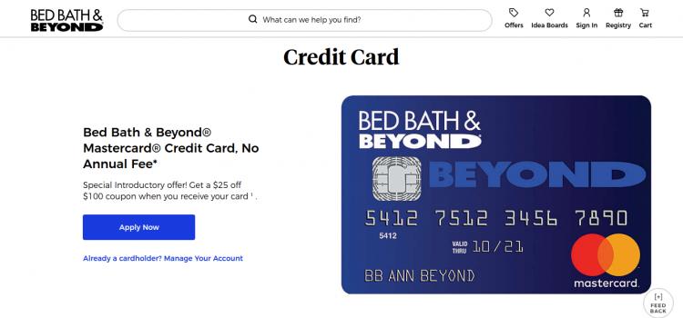 www.bedbathandbeyond.com – How To Apply Bed Bath & Beyond Credit Card Online