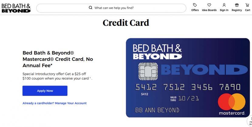 Bed Bath Beyond Mastercard Credit Card Logo