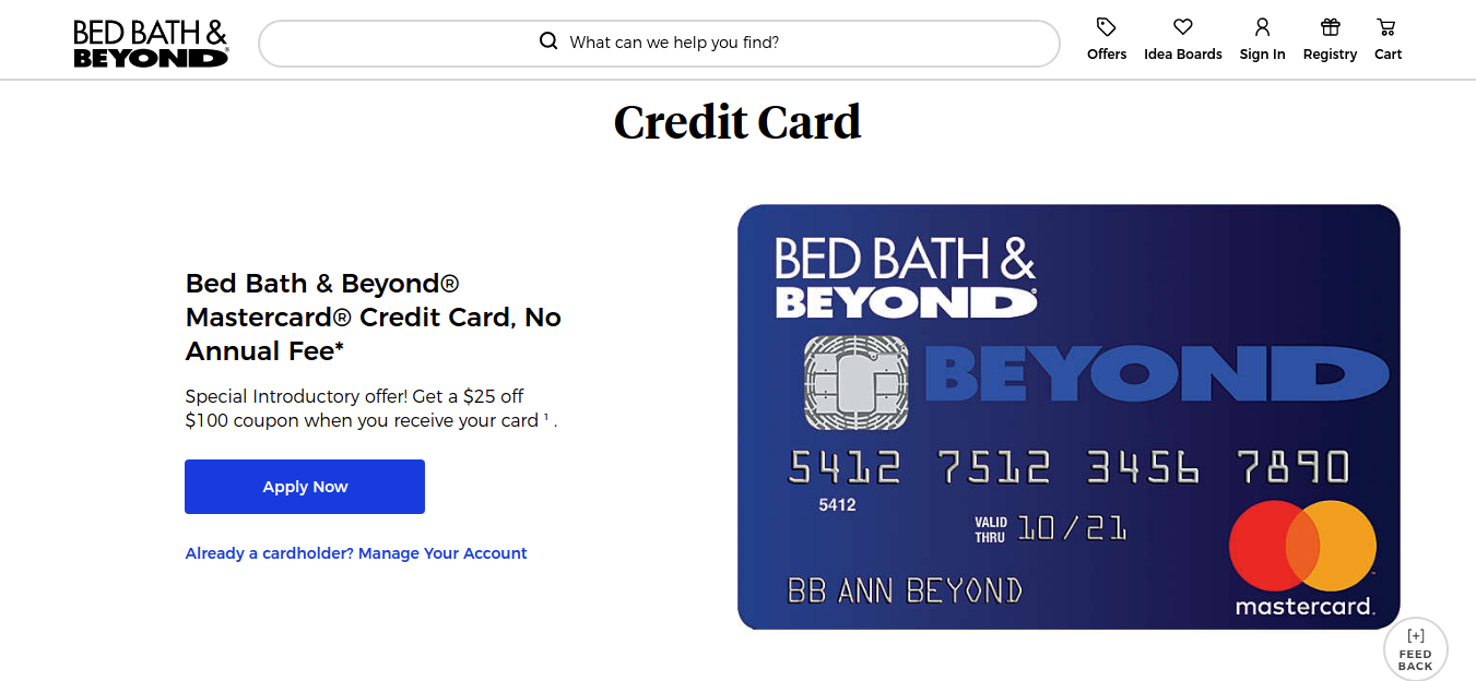Bed Bath Beyond Mastercard Credit Card Logo